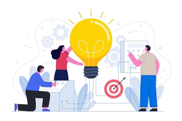 Geschäftsideenkonzept mit leuten Kostenlosen Vektoren