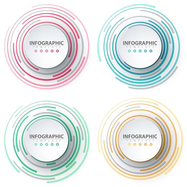 Geschäftsinfografik. papier-origami-vorlage Premium Vektoren