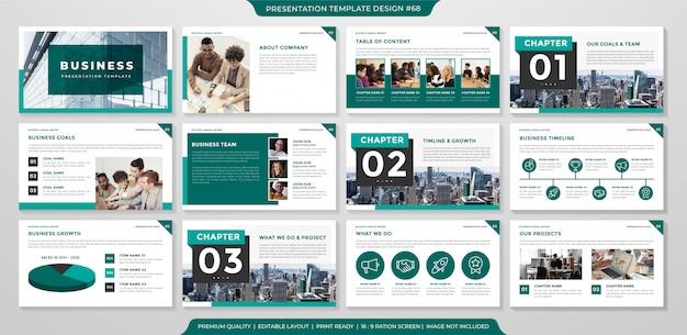Geschäftsjahresbericht mit minimalistischem und Premium Vektoren