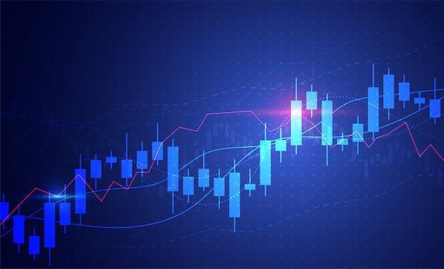 Geschäftskerzenhalter-diagrammdiagramm der börseinvestition Premium Vektoren