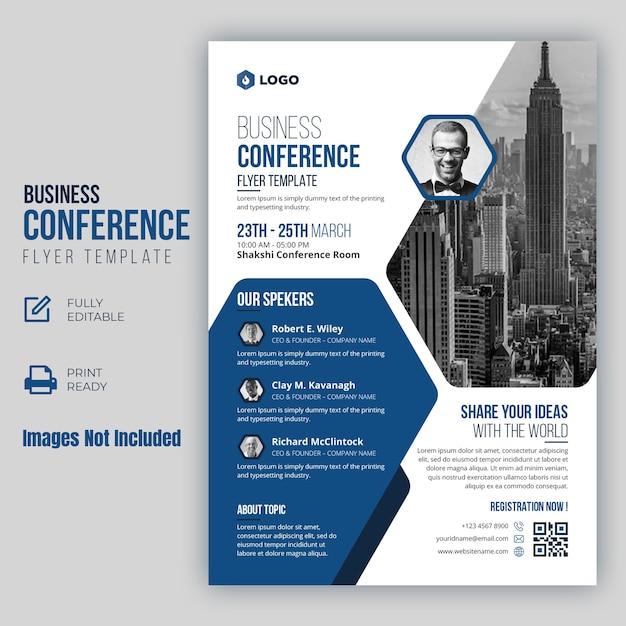 Geschäftskonferenz flyer vorlage Premium Vektoren