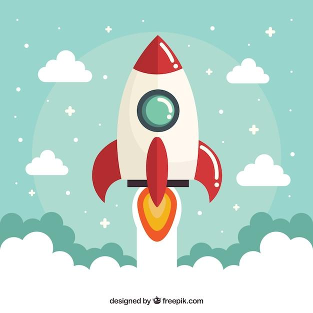 Geschäftskonzept mit rakete Kostenlosen Vektoren