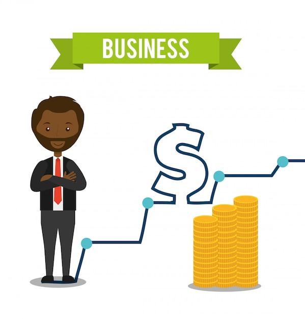 Geschäftskonzeptdesign Kostenlosen Vektoren