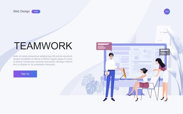 Geschäftskonzepte für analyse und planung, teamwork-beratung, projektmanagement, finanzberichterstattung und strategie. . Premium Vektoren