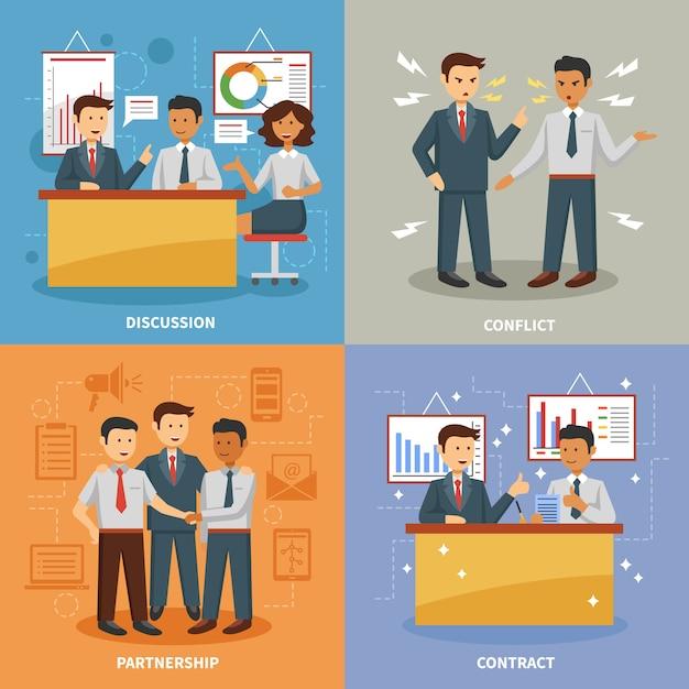 Geschäftsleben gesetzt Kostenlosen Vektoren