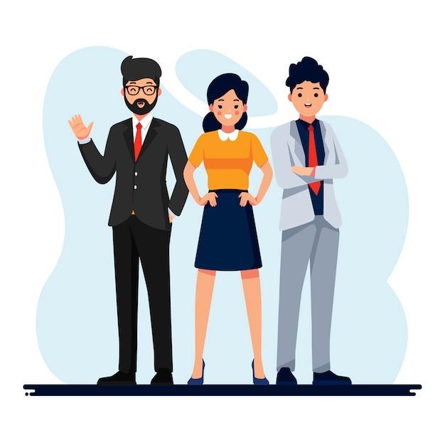 Geschäftsleute arbeiten illustration Premium Vektoren