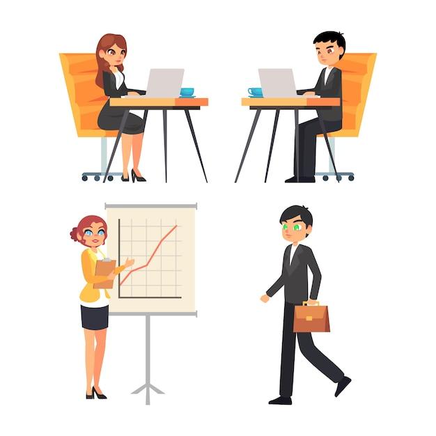 Geschäftsleute arbeiten Kostenlosen Vektoren