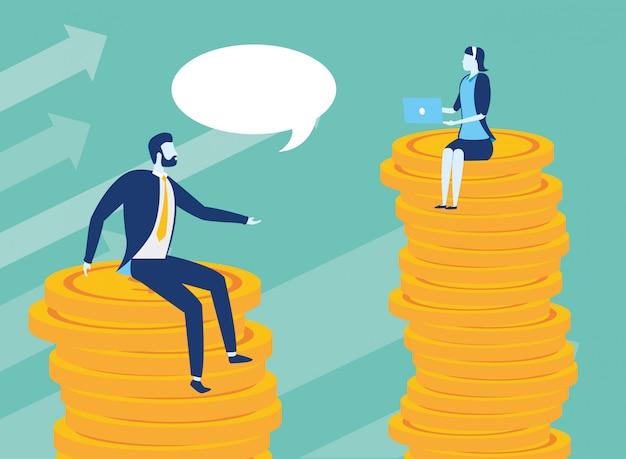 Geschäftsleute erfolgskonzept Kostenlosen Vektoren