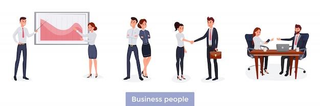 Geschäftsleute festgelegt Premium Vektoren