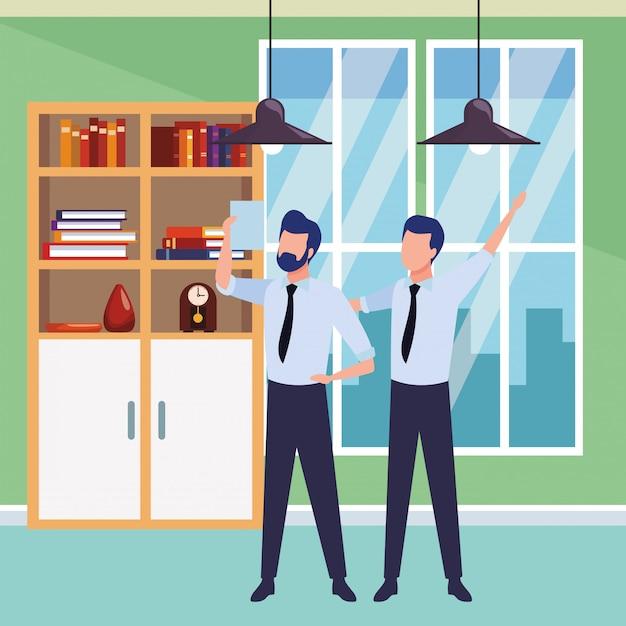 Geschäftsleute partner mit dokumenten Kostenlosen Vektoren