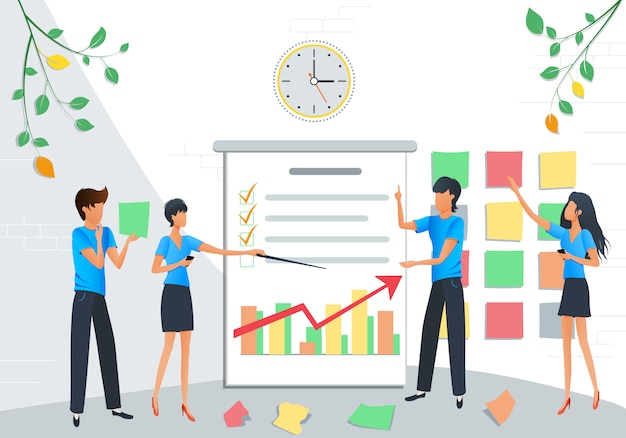 Geschäftsleute treffen Premium Vektoren