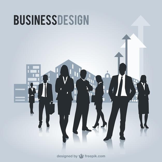 Geschäftsleuten silhouetten freie grafiken Kostenlosen Vektoren