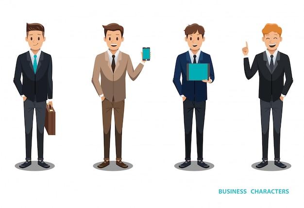 Geschäftsmann charakter design no3 Premium Vektoren
