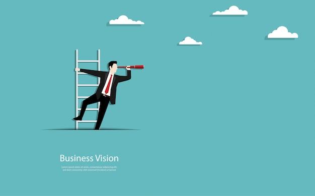 Geschäftsmann klettern die treppe aus papier ausschnitt Premium Vektoren