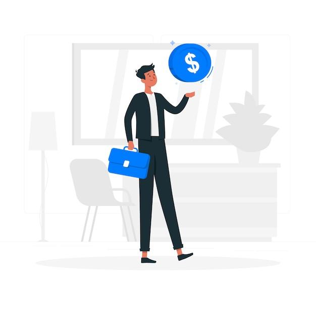 Geschäftsmann-konzeptillustration Kostenlosen Vektoren