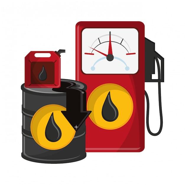 Geschäftsöl und erdöl Premium Vektoren