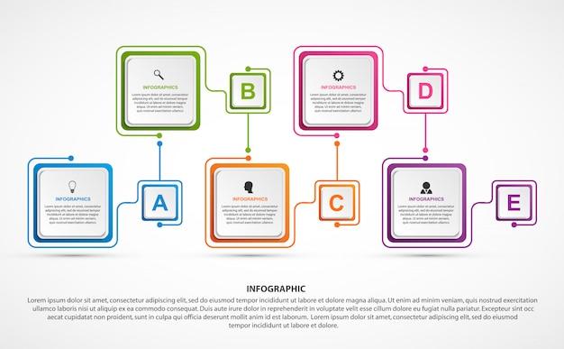 Geschäftsoptionen infografiken vorlage Premium Vektoren