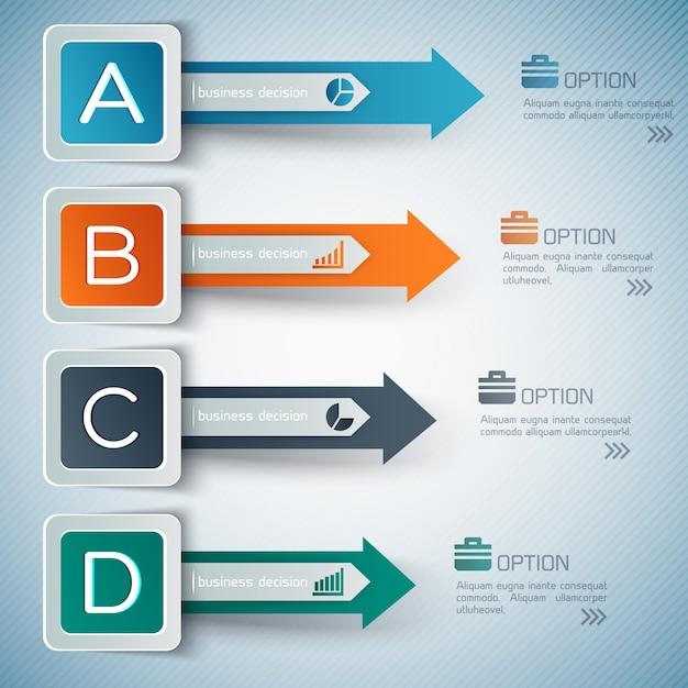 Geschäftsoptionen infografiken Kostenlosen Vektoren