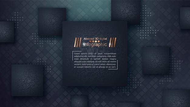 Geschäftspapierschablone - infographic idee Premium Vektoren