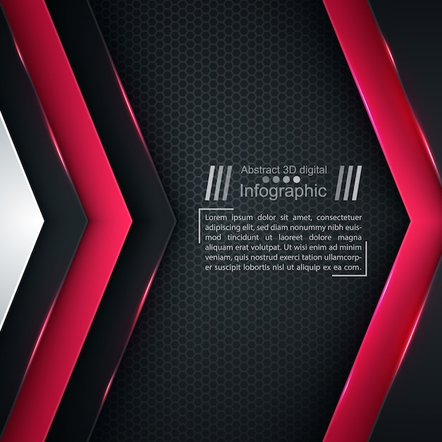 Geschäftspapierschablone - origamihintergrund. Premium Vektoren