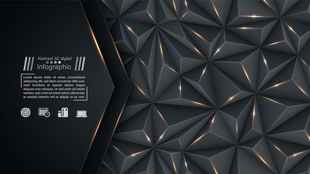 Geschäftspapierschablone - origamihintergrund Premium Vektoren