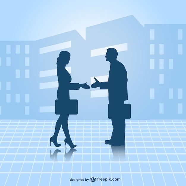 Geschäftspartner vektor Kostenlosen Vektoren