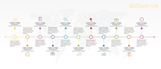 Geschäftsplan infografik Premium Vektoren