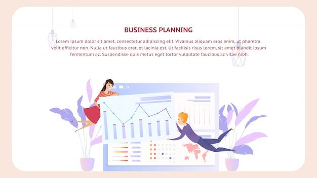 Geschäftsplanungsanalyse-dokumenten-design-fahne Premium Vektoren