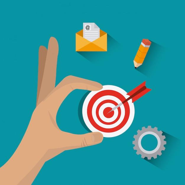 Geschäftsstrategie-design. Premium Vektoren