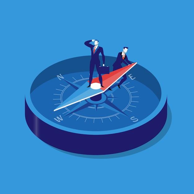 Geschäftsstrategiekonzept-vektorillustration in der flachen art Premium Vektoren