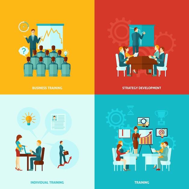 Geschäftstraining flach Kostenlosen Vektoren