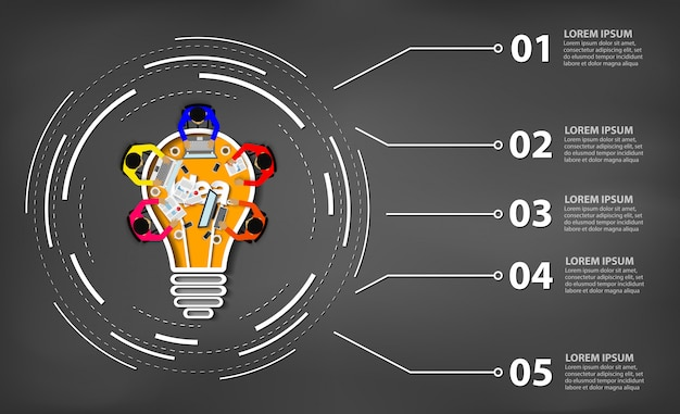 Geschäftstreffen. kreativität inspiration planung glühbirne konzept. zusammenspiel Premium Vektoren