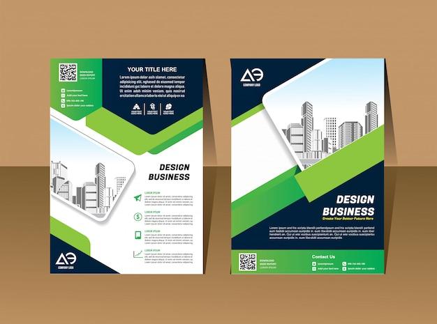 Geschäftsvektorsatz broschürenschablonenplan-abdeckungsdesign Premium Vektoren