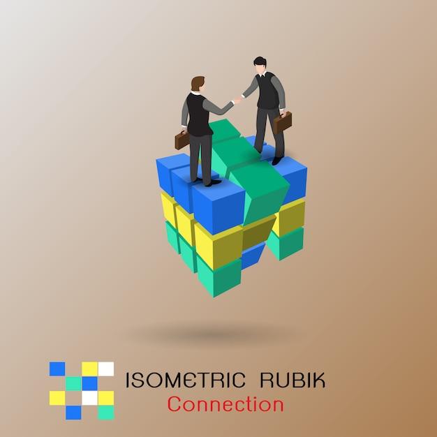 Geschäftsverbindung konzept. partnerschaft. Premium Vektoren