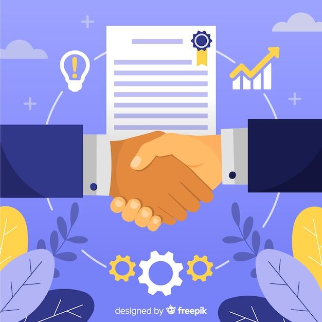 Geschäftsvereinbarung beim händeschütteln Kostenlosen Vektoren