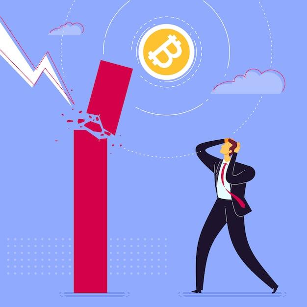 Geschäftsversagen schock Premium Vektoren