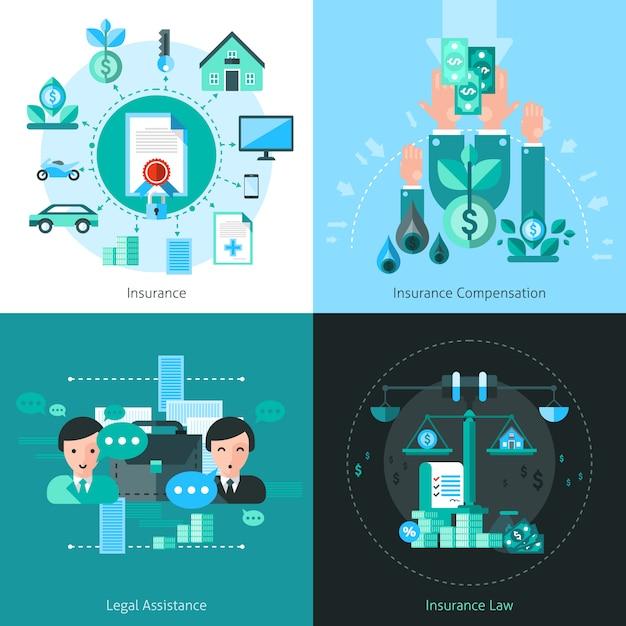 Geschäftsversicherungskonzept-vektorbild Kostenlosen Vektoren