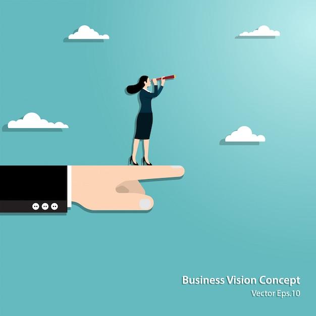 Geschäftsvision und ziel Premium Vektoren