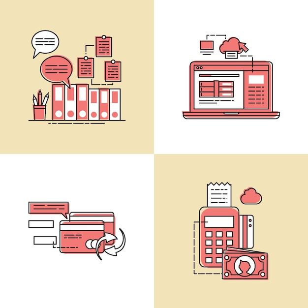 Geschäftsvorfall-vektor-konzept-illustration Premium Vektoren