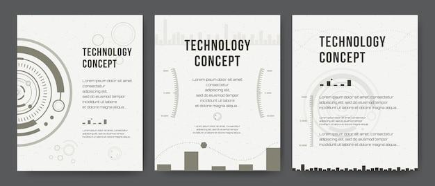 Geschäftsvorlage. broschüre design, moderne layout, jahresbericht, poster, flyer. abstrakte moderne hintergründe. mobile technologien, anwendungen, onlinedienste infografik-konzept. hud, techno, wirtschaft, ui. Premium Vektoren