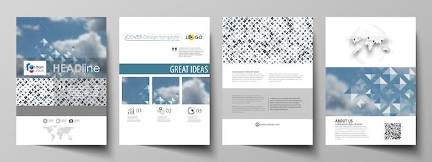 Geschäftsvorlagen für broschüre, magazin, flyer, broschüre, bericht. Premium Vektoren