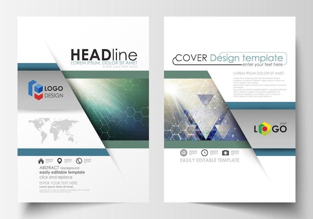 Geschäftsvorlagen für broschüre, magazin, flyer, broschüre, bericht Premium Vektoren