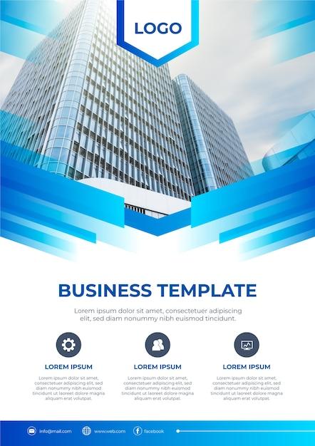 Geschäftsvorlagenentwurf mit foto Kostenlosen Vektoren