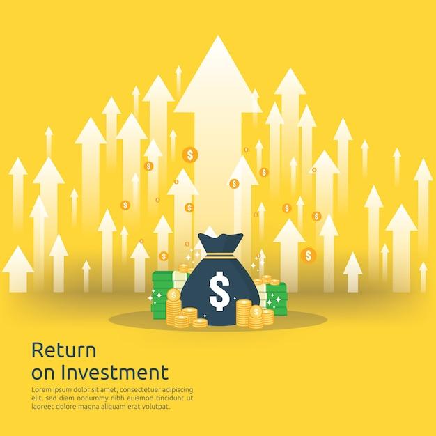 Geschäftswachstum pfeile zum erfolg. Premium Vektoren