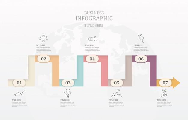 Geschäftszeitleiste Premium Vektoren