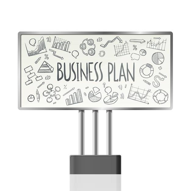 Geschäfts-Diagramme in der Anschlagtafel Kostenlose Vektoren