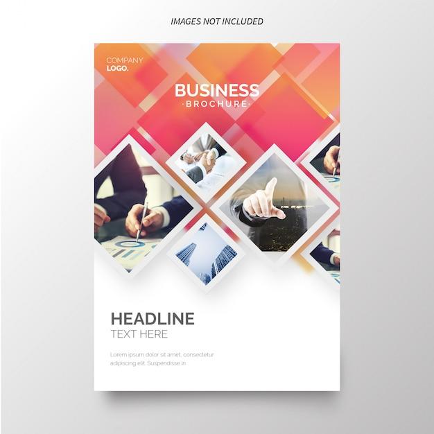 Geschäftsbericht Vorlage für Unternehmen Kostenlose Vektoren