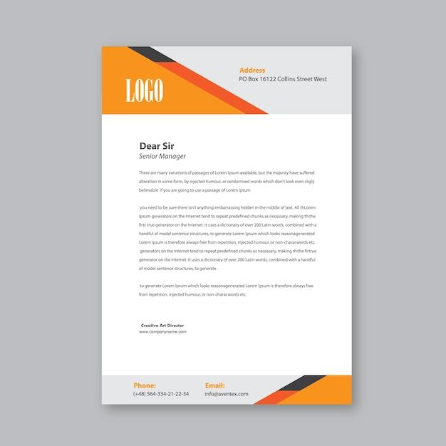 Geschäftsbrief Kopf Design Download Der Premium Vektor