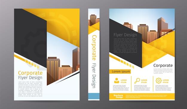 Geschäftsbroschüre oder Flyer Vorlage; Geschäftsbericht oder ...