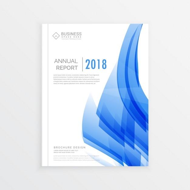 Geschäftsjahresbericht Deckblatt-Vorlage im A4-Druckgröße mit ...